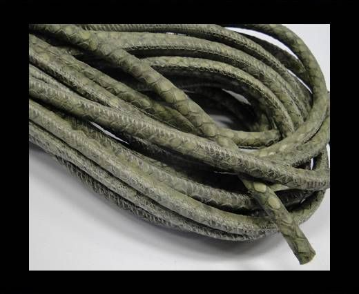 Fine Nappa-Snake-style-Moss Grey-6mm
