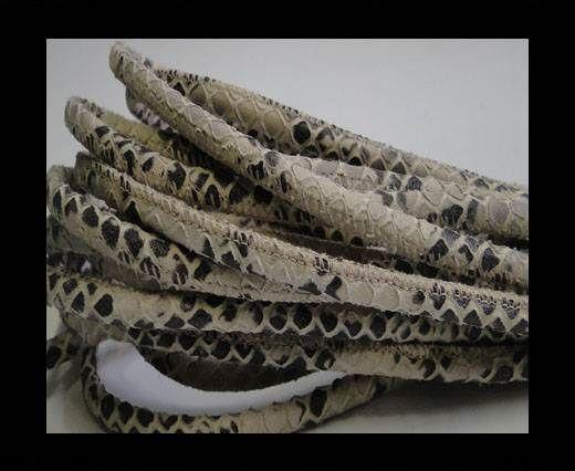 Fine Nappa-Snake style- Ivory -4mm