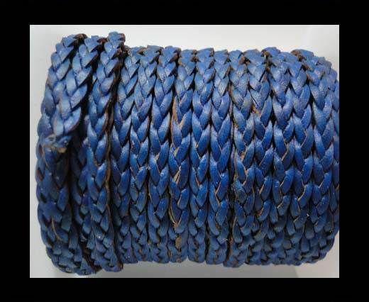 Flat 3-ply Braided Leather-SE-B-Dark Blue-3MM