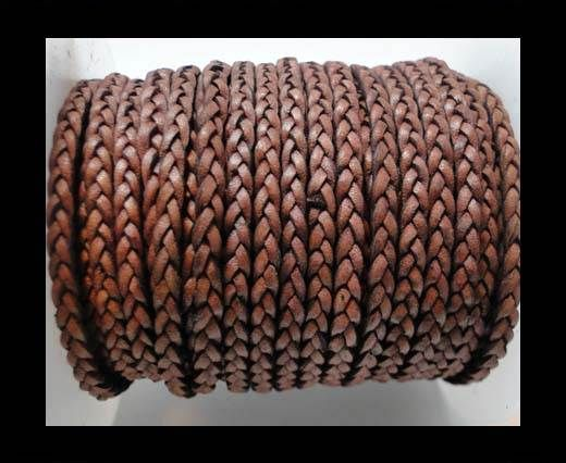 Flat 3-ply Braided Leather-SE-DB-16-3MM