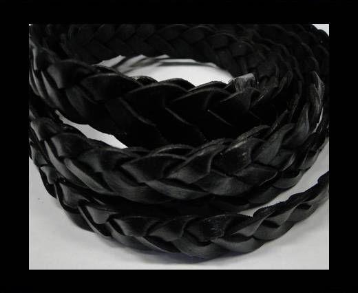 Flat braided cords 14 mm - SE/PB/Black - 4 ply