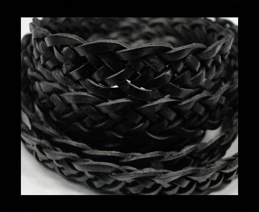 Flat braided cords 14 mm - SE/PB/Black - 7 ply