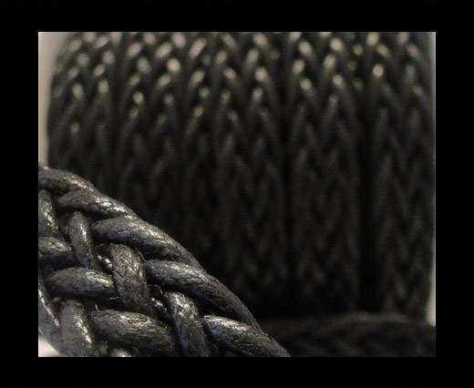 Corde plate tressée - Special style - 16mm - Noir