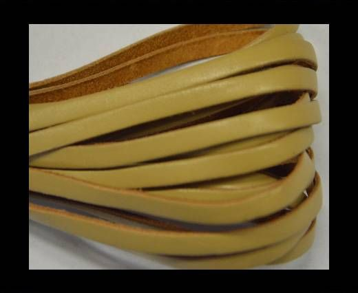Flat Leather- 5mm - Beige
