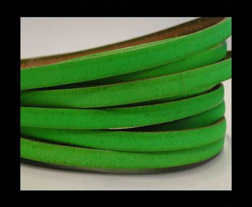 Flat leather - 5 mm -neon green