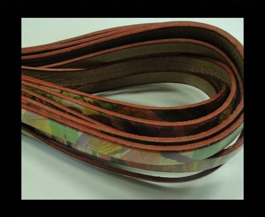 Flat Leather Cord-10mm-Multicolour 4
