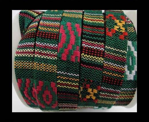 Flat multicolor Fabric cord-10MM-Color4
