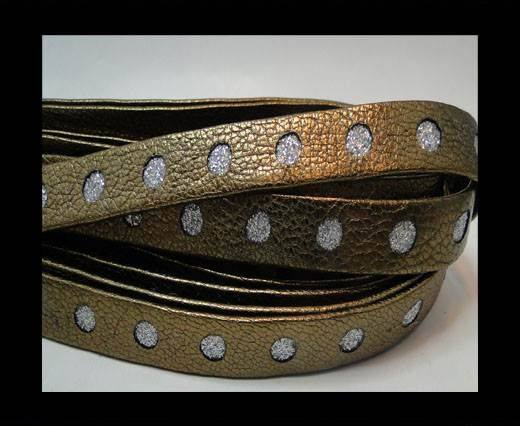 Flat Nappa with Glitter-bronze -10MM