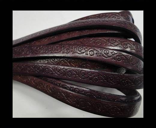 Flat-Purple with flower print-8mm*2mm