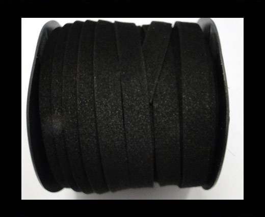 Flat Suede Cord - 10 mm - Black