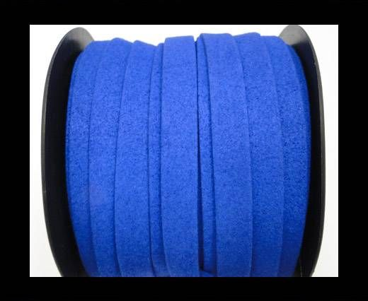 Flat Suede Cord - 10 mm - Blue