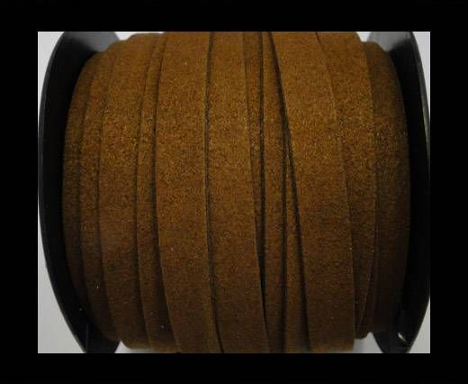Flat Suede Cord - 10 mm - Brown