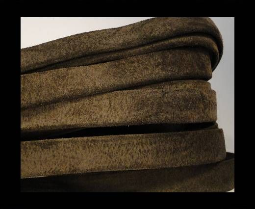 Flat Suede Leather-10mm-Taupe