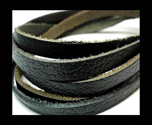 Flat Vintage Leather - 5mm -  spl 1 black