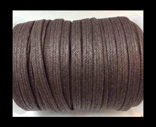 Flat Wax Cotton Cords - 3mm - Coffee Brown