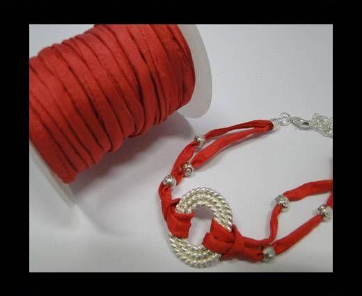 Habotai silk cords - Aurora Pink