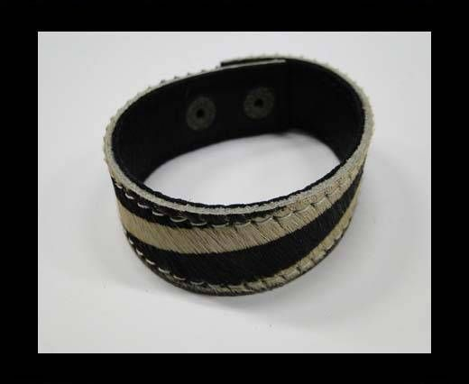Hair-on bracelet-zebra-20mm