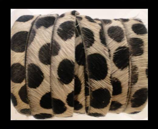 Hair-On Leather Flat-Dalmatian (big dots)-20mm