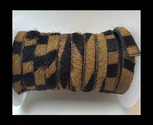 Hair-On Flat Leather- 5MM -Brown Zebra