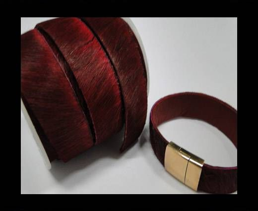 Hair-On-Leather-Cords-Wine Red-20mm