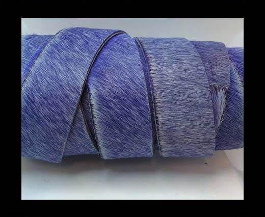 Hair-On Leather Flat-purple-20mm
