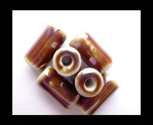 CB-Ceramic Flower-Hollow Tube-Brown AB
