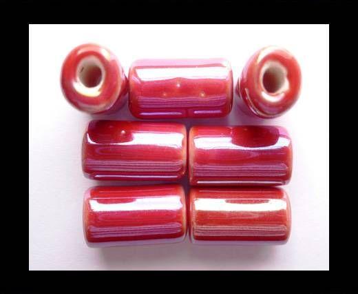CB-Ceramic Flower-Hollow Tube-Red AB