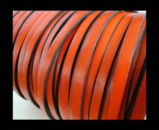 Flat Leather 5mm - Orange