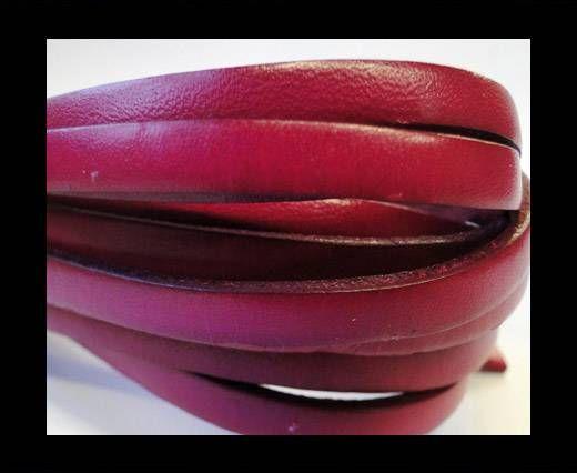 Flat Leather 5mm - Fuchsia