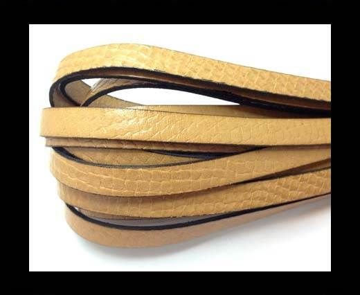 Italian leather 10mm Crocodile Style - Natural