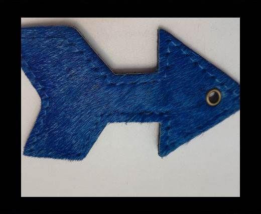 KC-Key Cord Arrow Shape 8cm blue hair-on