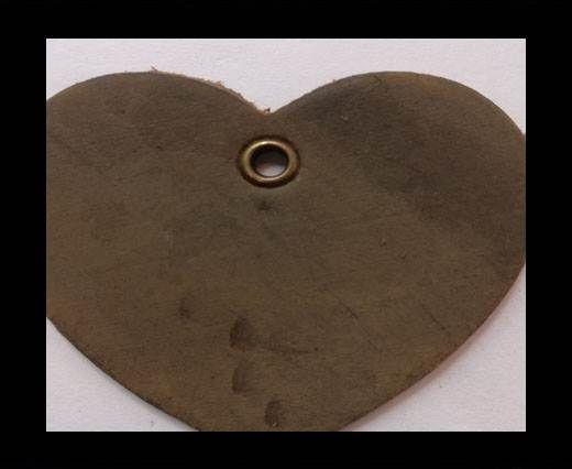 KC-Key Cord Heart Shape 4cm dark brown