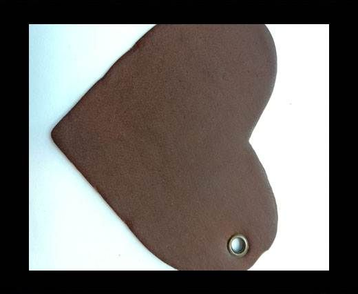 KC-Key Cord Heart Shape 8cm brown