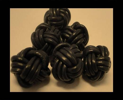 Leather Beads -8mm-Dark Blue