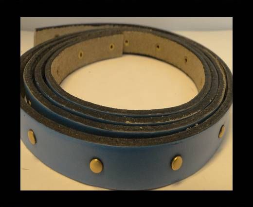 Leather with stud -10mm- Blue