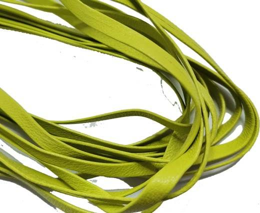 Flat Nappa Leather cords - 5mm - lime