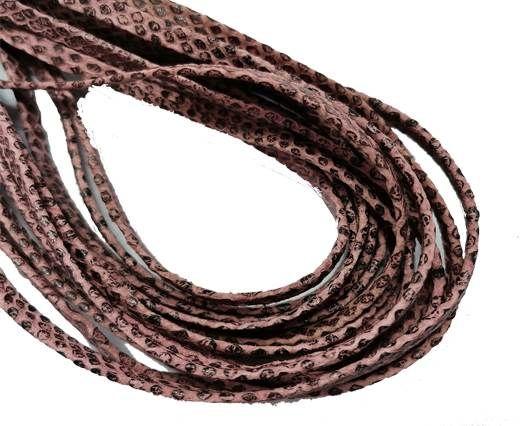 Flat Nappa Leather cords - 5mm - Lizard rose