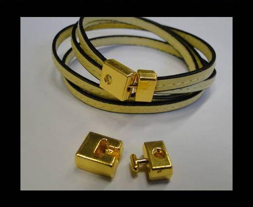 Zamac Hook Clasp- MGL-220 - 7x3mm - Gold