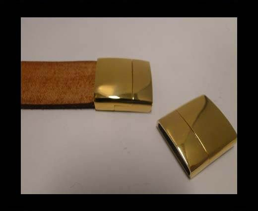 Stainless Steel Magnetic Clasp,Gold,MGST-MGST-103-20*4mm