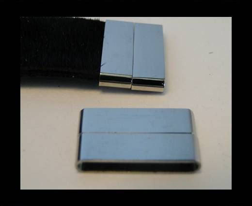 Stainless Steel Magnetic Clasp,Steel,MGST-105-40*3mm