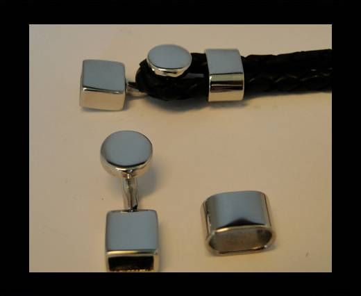 Stainless Steel Magnetic clasps - MGST-106-10*5mm-Silver