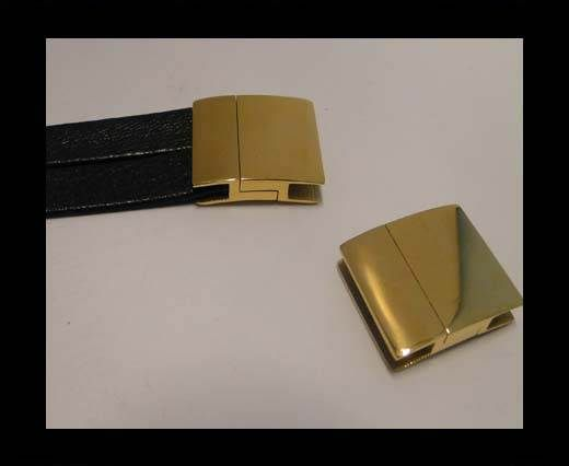 Stainless Steel Magnetic Clasp,Gold,MGST-111-20*3.5mm