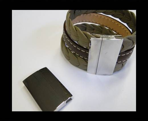 Stainless Steel Magnetic Clasp,Steel,MGST-111-40*3.5mm