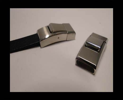 Stainless Steel Magnetic Clasp,Steel,MGST-115-12*4mm