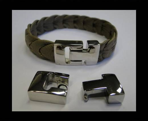 Stainless Steel Magnetic Clasp,Steel,MGST-119-12.7*4mm