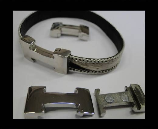 Stainless Steel Magnetic Clasp,Steel,MGST-135-10*2,5mm