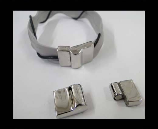 Stainless Steel Magnetic clasps - MGST-167-12*3MM-Steel