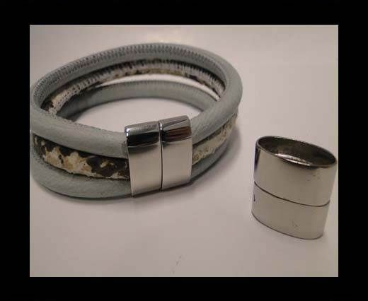 Stainless Steel Magnetic Clasp,Steel,MGST-198-17*7mm