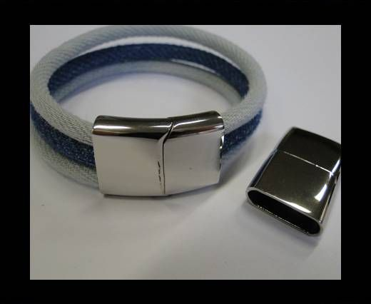 Stainless Steel Magnetic Clasp,Steel,MGST-32-18*5mm