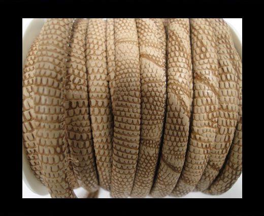 Cuir Nappa - 4mm - Snake Crocodile Style - Marron